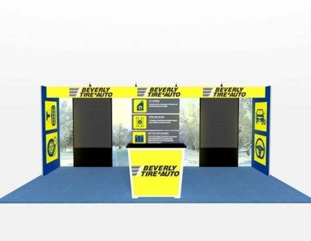 10X20 TURNKEY RENTAL BOOTH ML73-3 SLAT