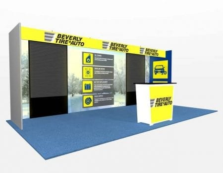 10X20 TURNKEY RENTAL BOOTH ML73-3 SLAT2