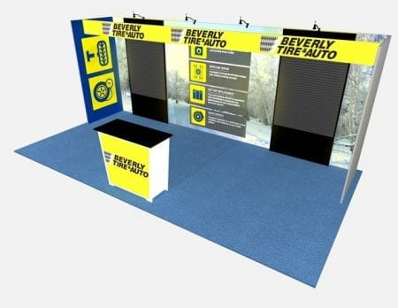 10X20 TURNKEY RENTAL BOOTH ML73-3 SLAT3