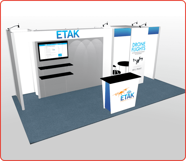 10x20 TURNKEY RENTAL BOOTH ml5 graphic package a
