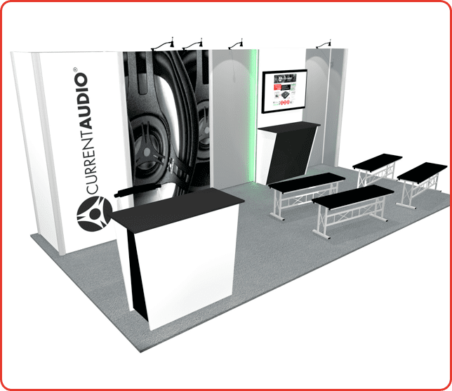 10x20 turnkey booth rental ml7 graphic package a