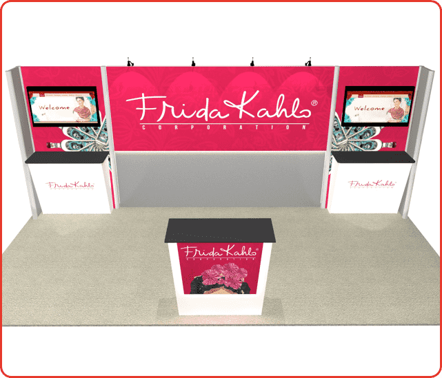 10x20 turnkey rental booth ml11 graphic package b