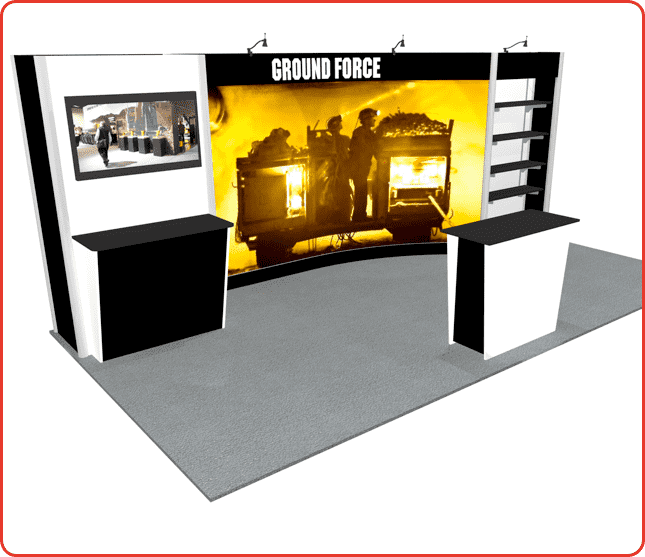 10x20 turnkey rental booth ml2 graphic package a