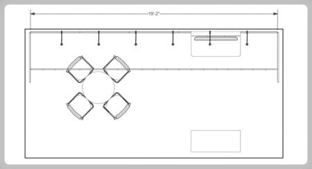 10x20 turnkey rental booth ml73-2 FLOOR PLAN