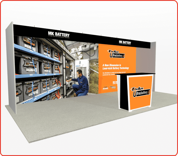 10x20 turnkey rental booth ml73 graphic package b