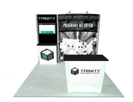 10x10 Turnkey Rental Booth MM53 2