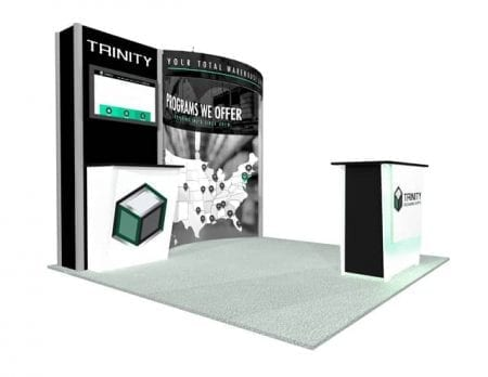 10x10 Turnkey Rental Booth MM53