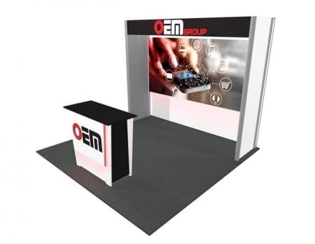 10x10 Turnkey Rental Booth MM61 2