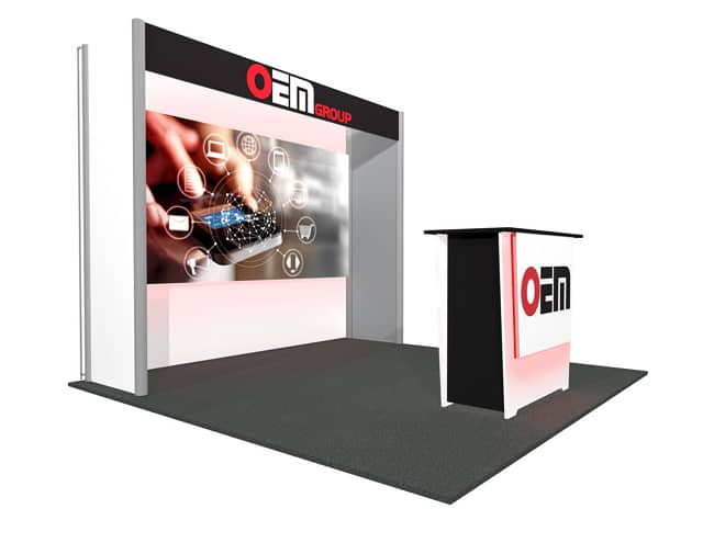 10x10 Turnkey Rental Booth MM61