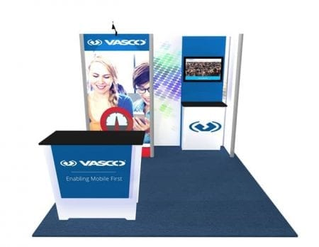 10x10 Turnkey Rental Booth MM67 front
