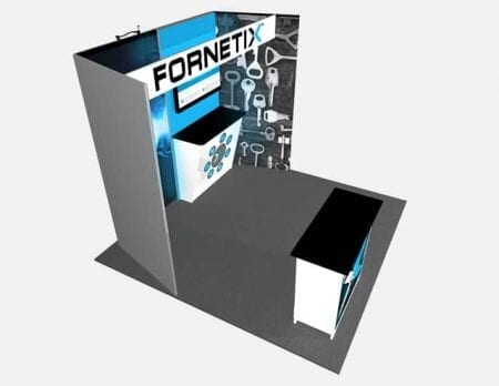 10x10 Turnkey Rental Booth MM73-2 above