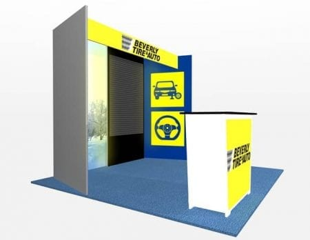10x10 Turnkey Rental Booth MM73-3