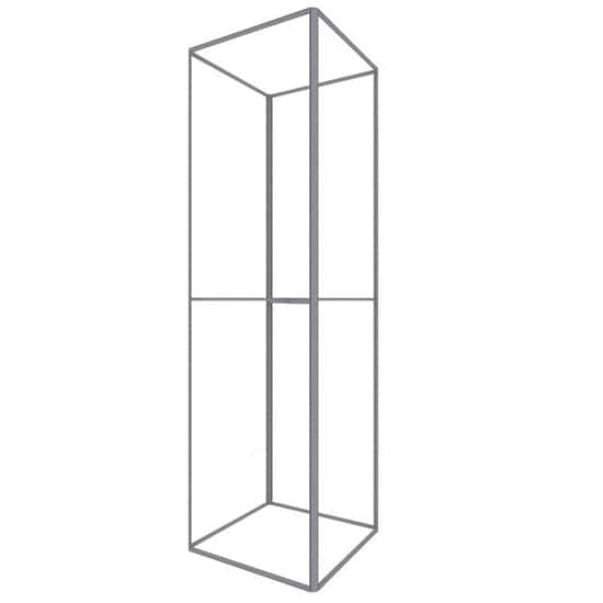 16′ H x 4′ W Trade Show Tower Frame with no lights.