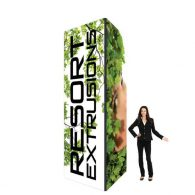 12X4 Black Non-Backlit Trade Show Tower Package