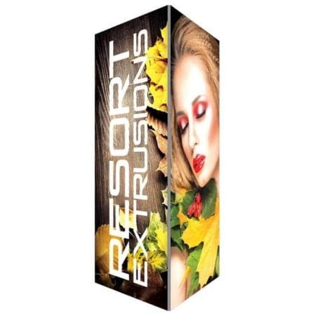 16ft high by 6ft wide Backlit Trade Show Tower