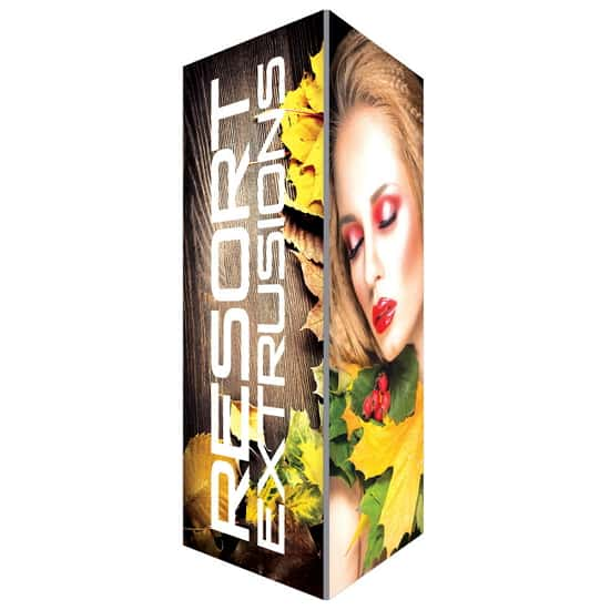 16ft high x 6ft wide Backlit Trade Show Tower