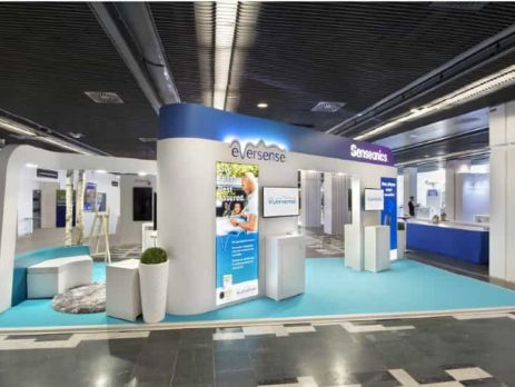 Custom Exhibit Booth Paris Senseonics