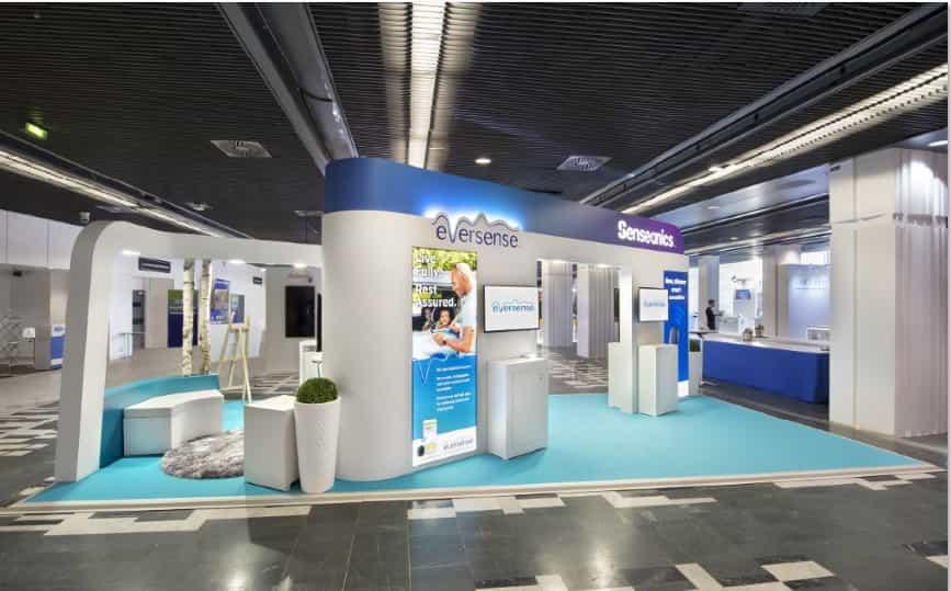 Custom Exhibit Booth Paris Senseonics