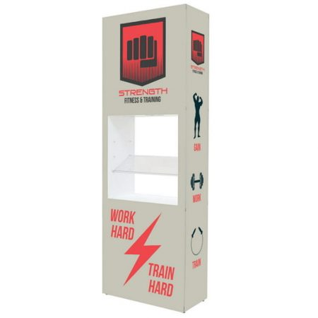 Backlit Shelf Display Pop Up Kit in a display