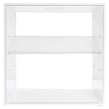 Backlit Shelf Display Pop Up Kit, angled shelf
