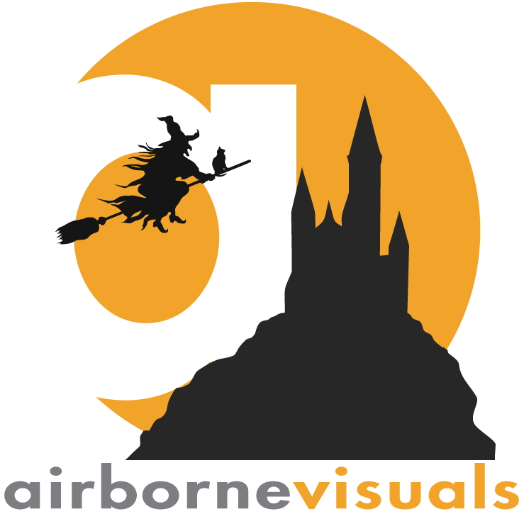 Spooky Airborne Visuals Logo halloween 2018