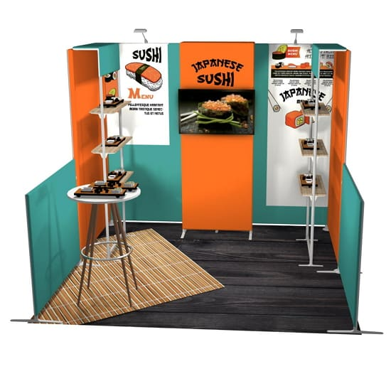 10x10 Sushi Tension Fabric Booth