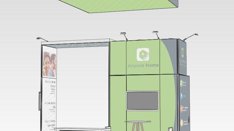 20x20 exhibit 3d rendering Anyone Home NAA 2018