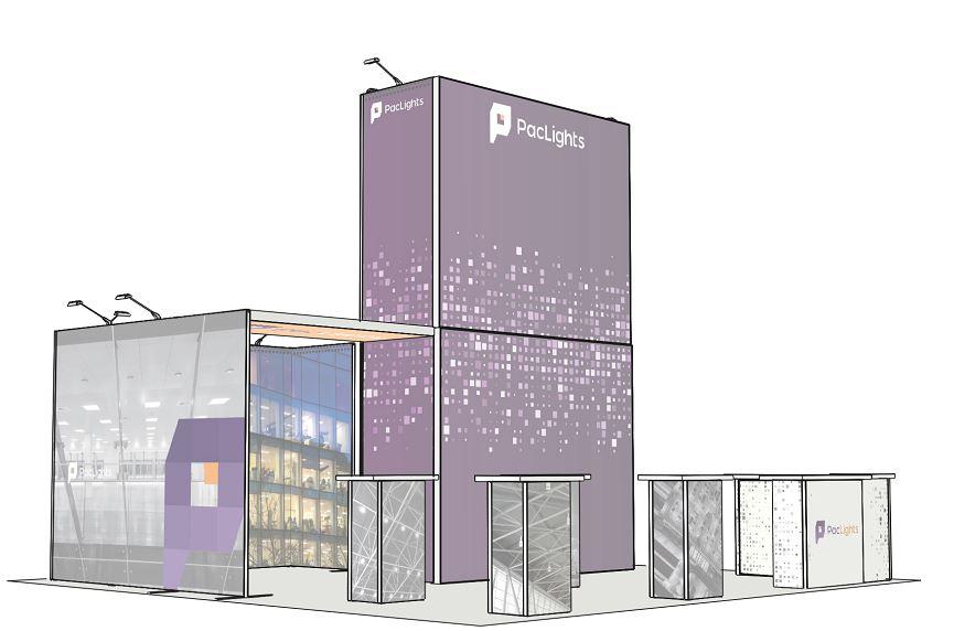 H-Line Trade Show Booth 3D Design