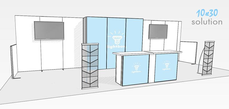Claim Central h-line booth render