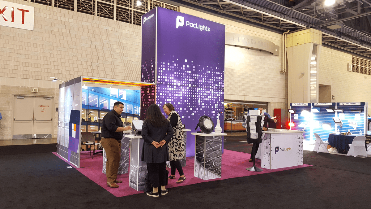 PacLights h-line booth at Lightfair 2019