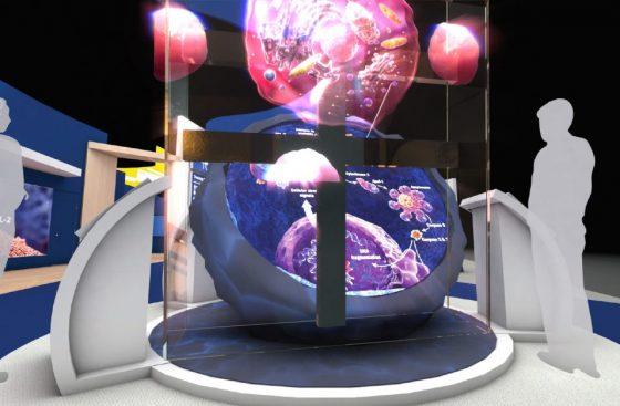 3D Hologram Animation Trade Show