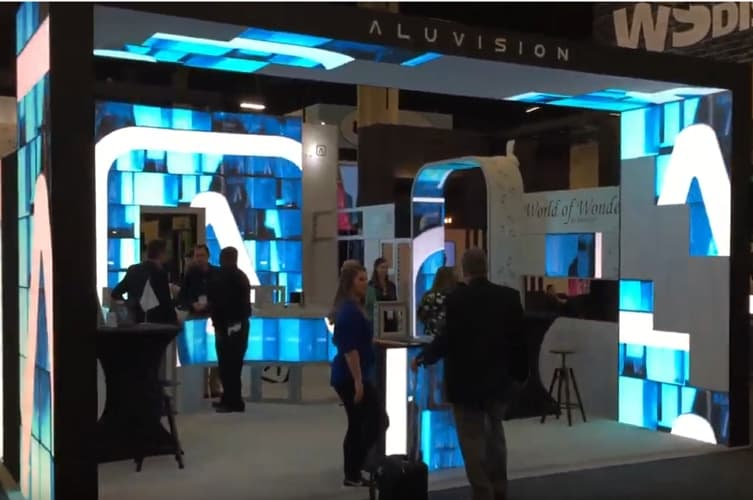 Aluvision Video LED Tiles booth