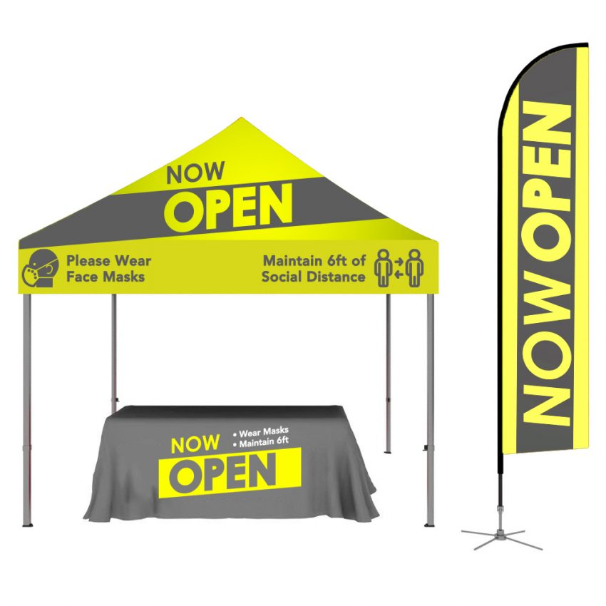 Curbside Pickup Tent - Now Open Tent