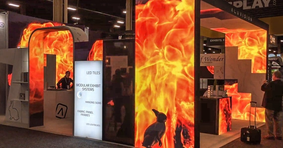 LED Video Tile Wall for Trade Show DIsplay