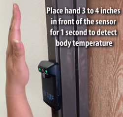 Temperature Detecting Hand Sanitizer Stand