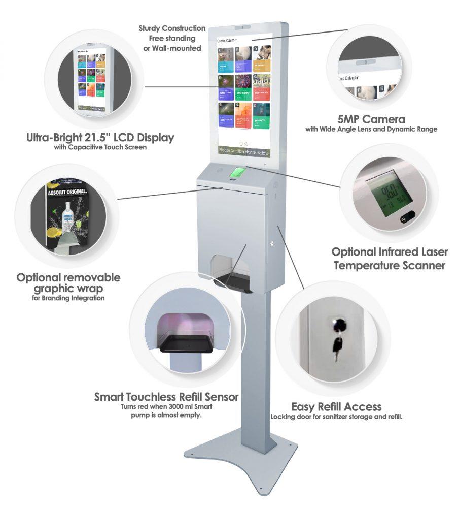Digital Sanitizer Kiosk Specs