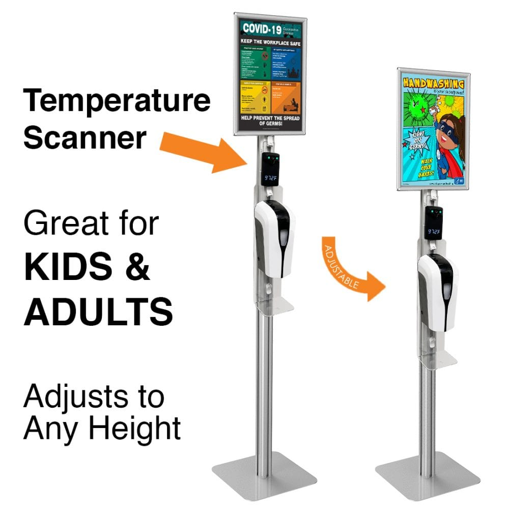 Temperature Detecting Hand Sanitizer Stand