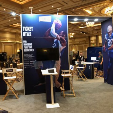 Duo Display 20x20 Island Trade Show Booth